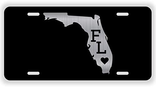 JMM Industries Florida Home State Vanity Novelty License Plate Tag Metal FL 12-Inches by 6-Inches Etched Aluminum UV Resistant ELP004