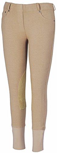 TuffRider Girl's Newbury Pull-On Breech Pant, 8,Safari