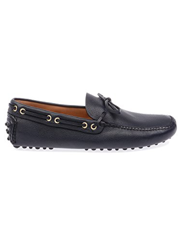 Men's XW8DAINO2F0008 Blue Leather Loafers