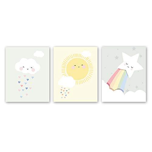 Cute Baby Kids Room Nursery Funny Wall Art Print,Set of 3 Art Poster (8