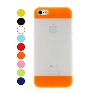 HP-Hit color Patchwork esmerilado y Shimmering Case Soft Polvos Efecto de TPU para el iPhone 5/5S , Amarillo