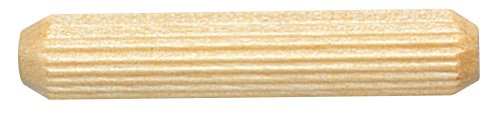 Platte River 170435, Wood Specialties, Pins & Plugs, 1/4'' X 1-1/2'' Multi-Groove Fluted Dowel Pin, 500-pack by Platte River