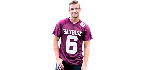 Saved by the Bell AC Slater Bayside Football Jersey for Adults, Large, by Costume Agent