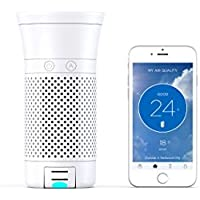Wynd Plus - Smart Portable Air Purifier with Detachable Air Quality Tracker (White Matte)