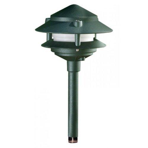 Dabmar Lighting LV102S-BZ Cast Aluminum Two Tier Pagoda Light, Bronze