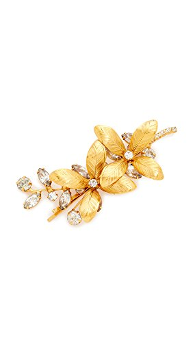 Jennifer Behr Women's Layla Bobby Pin, Gold/Clear, One Size by Jennifer Behr