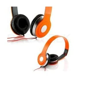 Roberts Fojjers Special Foldable Over the Head Stereo Dj Headphone 3.5 Mm for Pc Tablet Music Video & All Other Music Players.. (Tangerine)