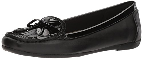 ubia Leather Loafer Flat, Black/Multi Leather, 8.5 M US (Anne Klein Loafers)