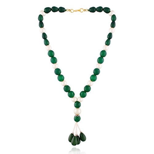 I Jewels Pearl Necklace Fashion Wear for Women PE01G by I Jewels