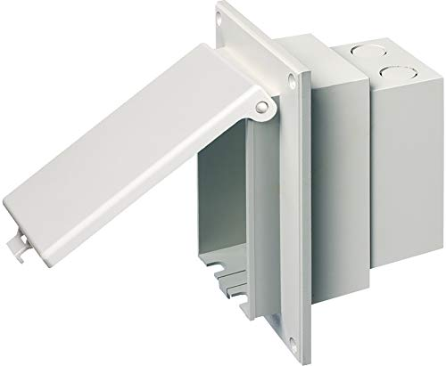 Arlington DBVR1W-1 Low Profile IN BOX Electrical Box with Weatherproof Cover for Flat Surface Retrofit Construction, 1-Gang, Vertical, White