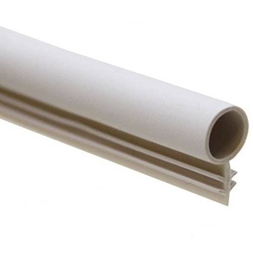 """1/4"""" Window Kerf Bulb Weatherstrip Mount Slot Seal in 2 Colors and 6 Lengths (25, White)"""