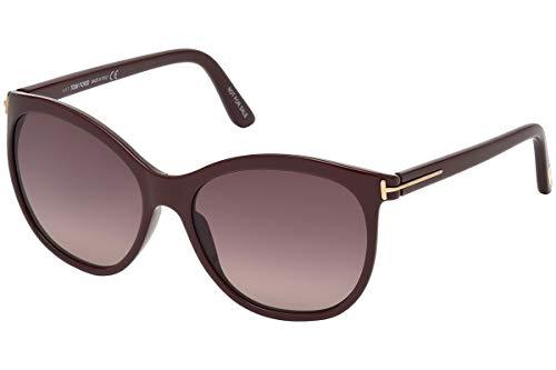 Tom Ford FT0568 Geraldine-02 Sunglasses Burgundy Red w/Burgundy Red Gradient Lens 69T TF568