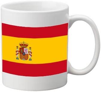 Bandera de España taza de cerámica. 11 oz taza, gran taza.: Amazon.es: Jardín