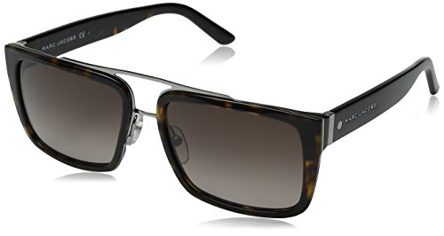 Marc Jacobs Men's Marc57s Rectangular Sunglasses, Dark Havana/Brown Gradient, 56 mm (Sunglasses Havana Brown)