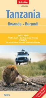 Tanzania, Rwanda and Burundi Nelles map [Folded Map] Publisher: Nelles Verlag