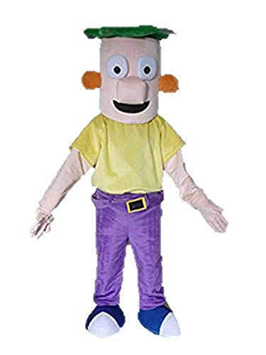 Lovely Phineas and Ferb Mascot Costume for Adult Deguisement Mascotte Cartoon Mascots Party