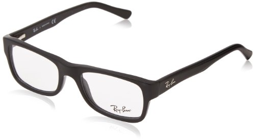 Ray-Ban Rx5268 Rectangular Eyeglasses,Matte Black,48 - Ban Ray Eyeglass Best Frames