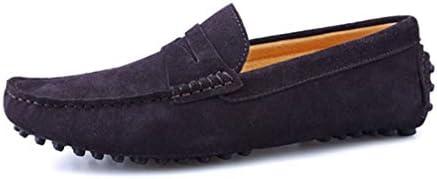 メンズ 靴 ドライビングシューズ スリッポン 防滑 ビジネスシューズ 軽量 モカシン シューズ かかと踏める 革靴 春靴 紳士靴 カジュアル デッキシューズ スウェード 父の日 ギフト 彼氏 大きなサイズ