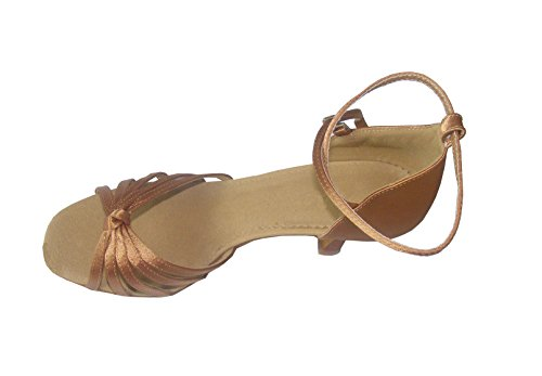 Classic of satin five of shoes dance Bronze ballroom with belt statement Ladies Latin HfaHxU