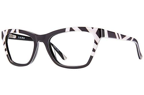 L.A.M.B. By Gwen Stefani LA012 Women's Eyeglass Frames - Black/White