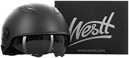 Westt Escape - Casque de Skateboard avec pare Soleil pour le Skateboard le Roller et le Trotinette Electrique pour Homme et Femme adultes (Noir Mat)