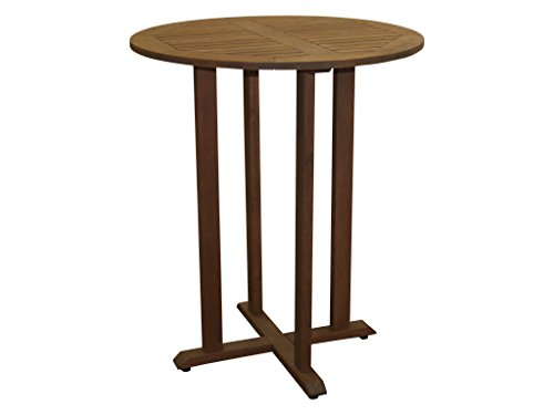 Milano Bistro (Timbo Torino Hardwood Outdoor Patio Bar Bistro Table, Brown)