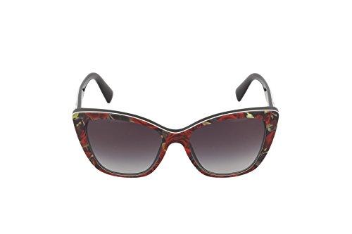 Black gabana Gabbana Dolce Mujer amp; Sol Gafas para Printing de On Roses EqwnPwxS7