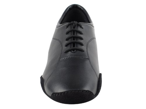 Very Fine Shoes Mens Latin & Rhythm Competitive Dancer Series CD9321 Black Leather with 1.5 Heel s6ome