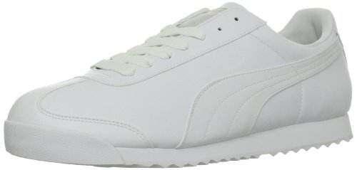 PUMA Men's Roma Basic Fashion Sneaker, White/Light Gray - 8.5 D(M) US