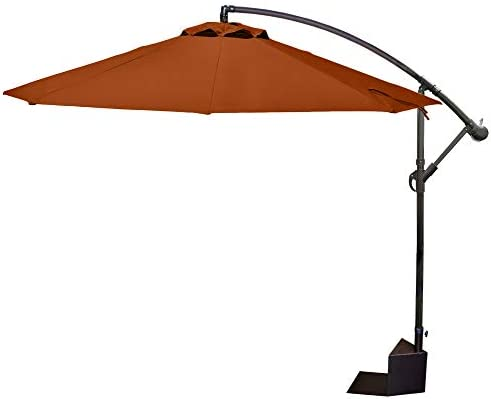 Island Umbrella Santiago Octagonal Cantilever Spa Side Umbrella