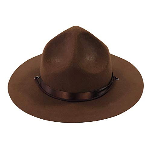 luyaoyao Ranger Hat - Brown Drill Sergeant Military Campaign Hat]()