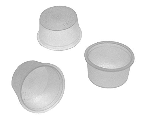 "National Artcraft Translucent White Plastic Stopper Plug Fits A 1-11/32"" Hole (Pkg/24)"