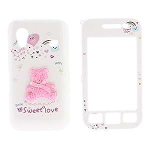 Conseguir Caso Cuerpo Pink oso de peluche de plástico completa para Samsung S5830