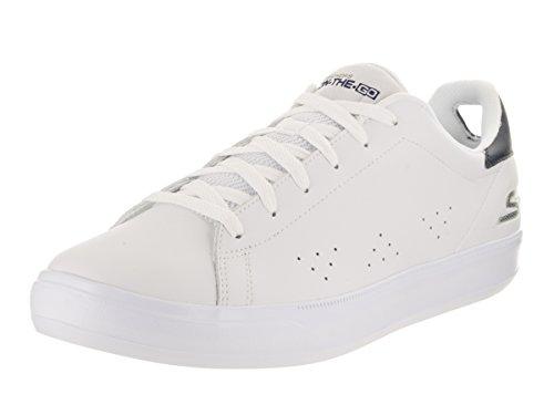 Sneakers Skechers per uomo in pelle bianca modello tennis White/navy