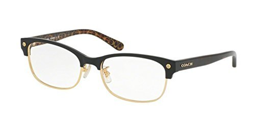 Amazon.com: Coach Women\'s HC6098 Eyeglasses Black Gold/Dark Tort ...