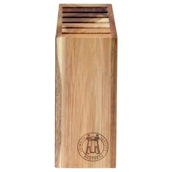 "Hudson Home Schmidt Brothers Cutlery ,SSKSB08, Skyline Wood Knife Block,8"",Acacia"
