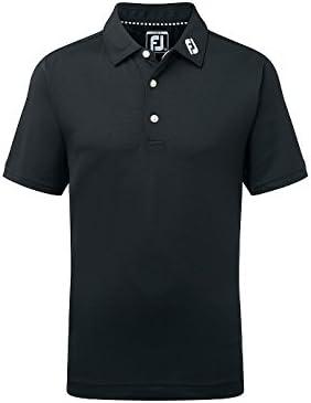 Footjoy Junior Pique Solid Shirt Polo, Niños, Negro, One Size ...