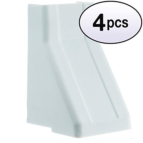GOWOS (4 Pack) 1.25 inch Surface Mount Cable Raceway, White, Ceiling Entry