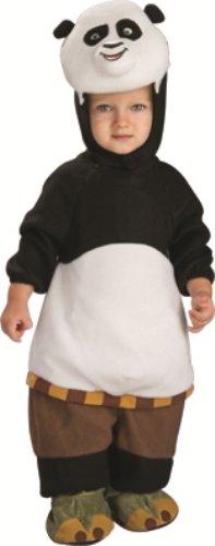 Rubie's Costume Co Unisex-baby Newborn Kung Fu Panda-2 Romper Costume, White/Black, (Baby Kung Fu Panda Costume)