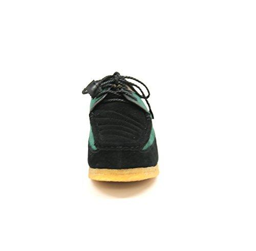 Britisk Samling Menns Krone Blonder Skoen, Lavendel / Beige Semsket Skinn, 10 M Grønn / Sort