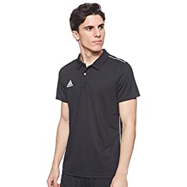 adidas Men's Core 18 Short Sleeves Polo Shirt