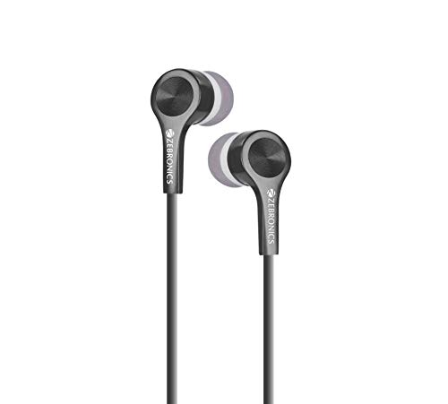 Zebronics ZEB EMZ10 Wired Earphone Headset with Mic  Black