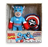 Marvel Dog Toys Value Pack – Captain America – 2 pc, My Pet Supplies