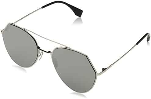 7f09a013068 Fendi 3YG Light Gold 0194S Round Sunglasses Lens Category 3 Lens Mirrored  Size