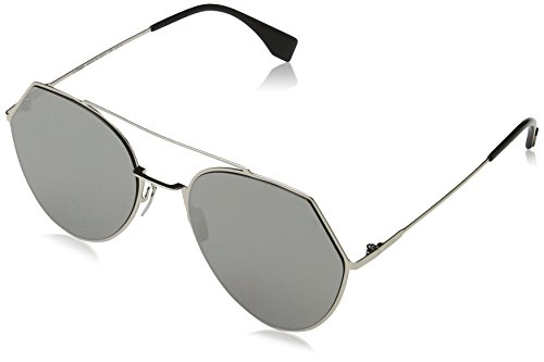 Fendi 3YG Light Gold 0194S Round Sunglasses Lens Category 3 Lens Mirrored - Men Fendi