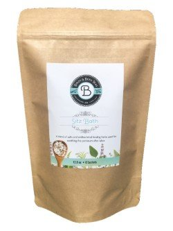 Sitz Bath by Birds & Bees Teas - Postpartum and Hemorrhoid Relief Sitz Bath Herbs. All Natural Soothing and Healing Pain Relief. 8 Sachets