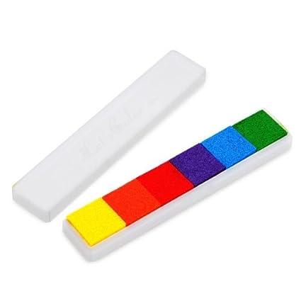 Tampone Cuscinetto Preinchiostrato per Timbri Manuali da Tavolo 6 Colori Scuri Sonline