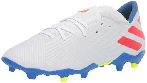 adidas Men's Nemeziz Messi 19.3 Firm Ground Soccer Shoe White/Solar Red/Football Blue 6.5 M US