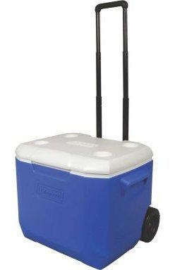 Coleman ..60 Quart Rolling cooler-blue