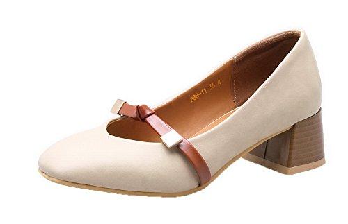 Puro Medio Punta AgooLar Donna Tacco Ballet Flats Chiusa Luccichio Tirare wxgqT0OPg
